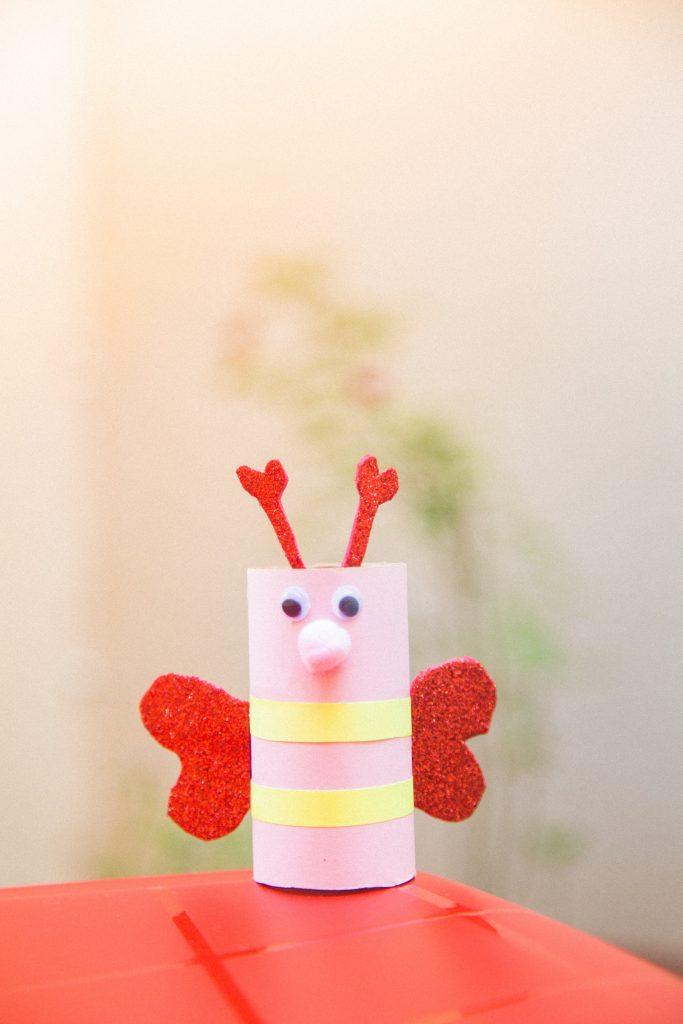 borboleta de rolo de papel higiênico